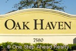 Oak Haven community sign